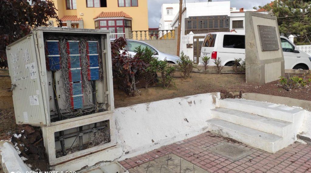 CUADROS ELÉCTRICOS DESCUBIERTOS EN LA GARITA (TELDE)
